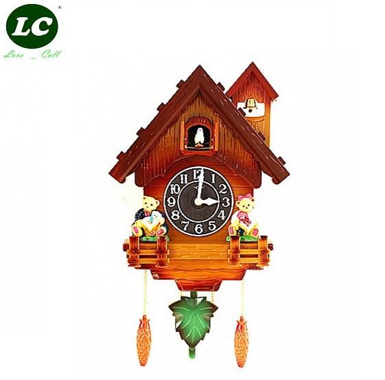 cuckoo clock children living room decorations home small wall clock alarm clock watch modern. Black Bedroom Furniture Sets. Home Design Ideas