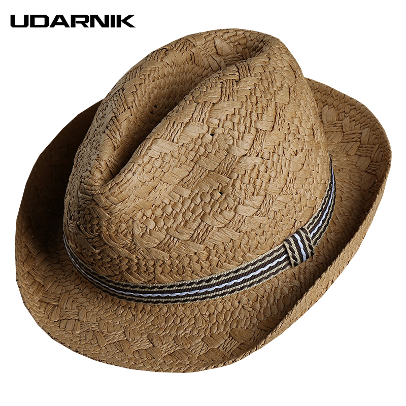 66149c0aaa8 Aliexpress.com   Buy Men Straw Beach Sun Hat Travel Wide Brim Trilby Panama  Cap Breathable Casual Hats Beige Khaki Outdoor Summer 904 A427 from  Reliable Sun ...