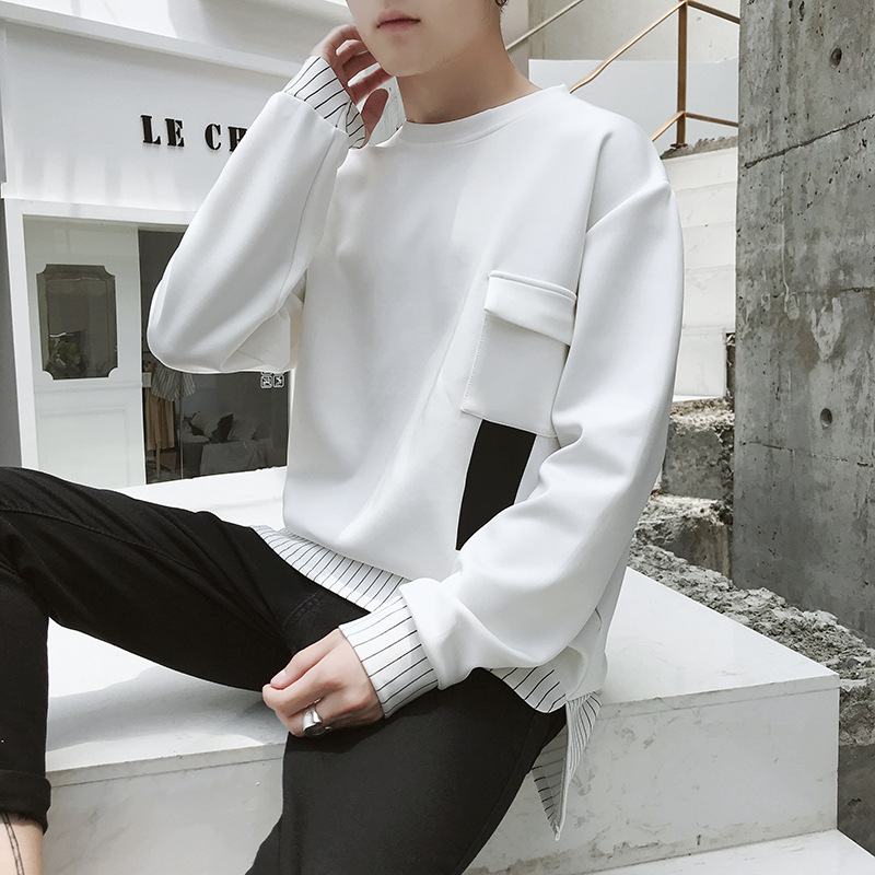 2019 the spring and autumn period and the new fleece adolescent leisure fashion sets men round collar 41