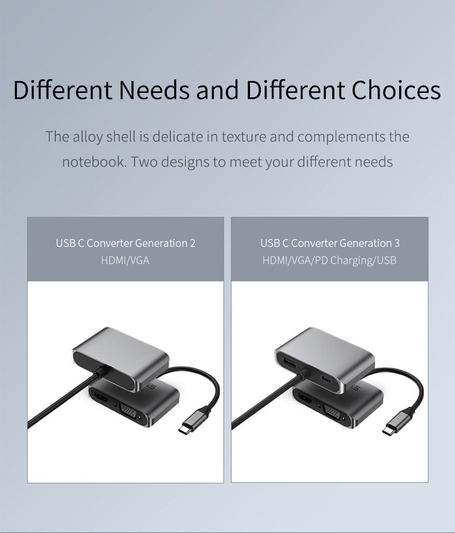 USB C to HDMI VGA 14