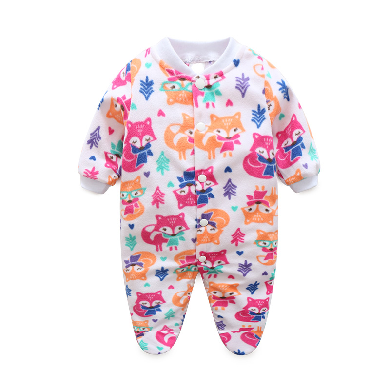 Brand Baby Boy Rompers Cute Climbing Clothing With Foot Newborn Girls Warm Pajamas Rompers Toddler Jumpsuit Clothes Kids Cousume newborn baby boy winter rompers long sleeve cotton clothing toddler baby clothes romper warm cartoon jumpsuit baby boys pajamas