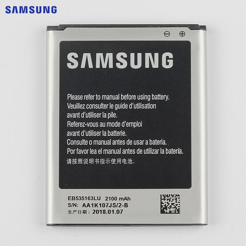 Original de SAMSUNG batería de reemplazo EB535163LU para Samsung I9082 Galaxy Grand DUOS I9080 I879 I9118 Neo + i9168 i9060 2100 mAh