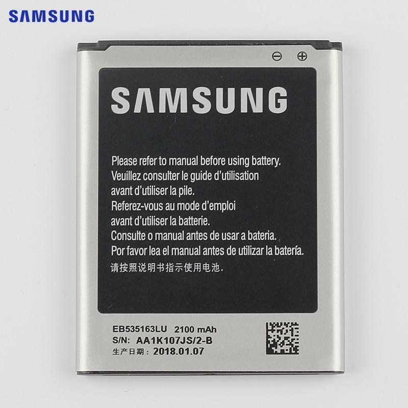 SAMSUNG Original Ersatz Batterie EB535163LU Für Samsung I9082 Galaxy Grand DUOS I9080 I879 I9118 Neo + i9168 i9060 2100 mAh