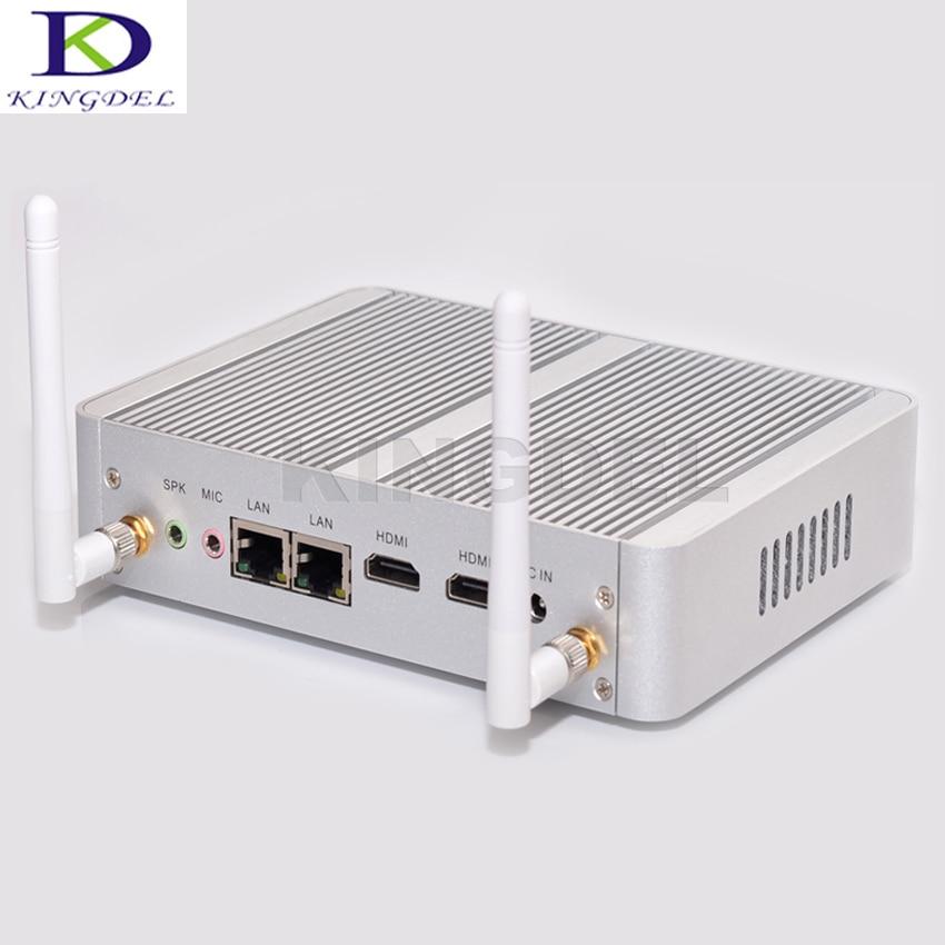Free Shipping Fanless Mini PC Intel Quad Core Celeron N3150 5th Gen. 14nm Dual HDMI Computer With WiFi Dual LAN