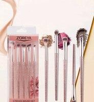 5 шт. комплект подводок для глаз, розовая Кисть для макияжа, легко наносится с высокой стоимостью лица, портативная блестящая ручка