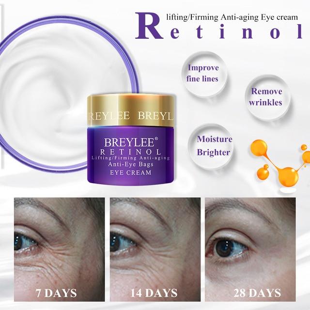 BREYLEE Eye Cream Eyes Serum Hyaluronic Acid Moisturizing Ageless Retinol Anti Wrinkle Firming Vitamin C Whitening