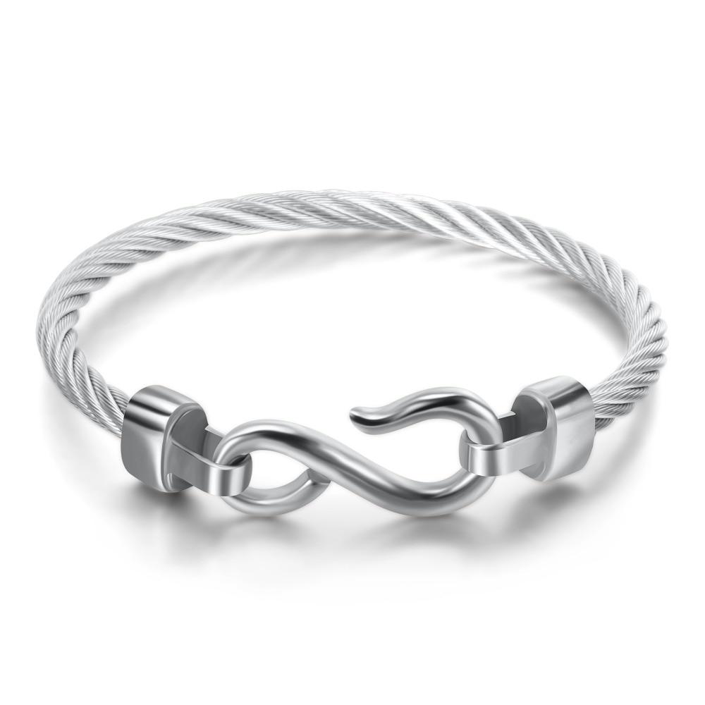 Fashion Charm Armbänder mit Edelstahlhaken Modeschmuck Infinity Love - Modeschmuck - Foto 6