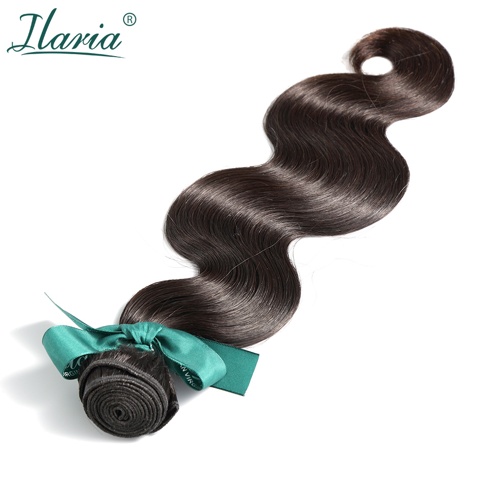ILARIA HAIR Brazilian Body Wave Remy Human Hair Bundles 1Pc 100 Virgin Hair Weave Extensions Natural
