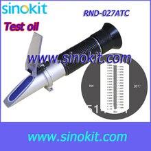 С CE сертификация промышленности тестер масла Черная рукоятка ручной рефрактометр RND-027ATC