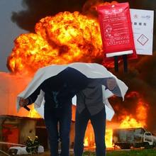 Стеклянные Волокна, Огнеупорные 1.5×1.5 М Стекловолокна Огонь Одеяло Аварийного Выживание Своих Укрытие Безопасности Протектор