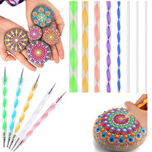 Mandala Dotting Tools Kit Rock Painting Stencils Stone Embossing Starter Drawing Stylus Pens Rods Kid Craft DIY Wall Art