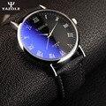 Yazole amantes reloj mujeres hombres relojes de pulsera de negocios 2017 cuero Mujer hombre Hombres Del Reloj de Lujo Famosa Marca de Fábrica Superior Negro kol saati