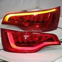 2010 2015 год светодиодный фонарь для Audi Q7 светодиодные задние фары красный, белый Цвет SN