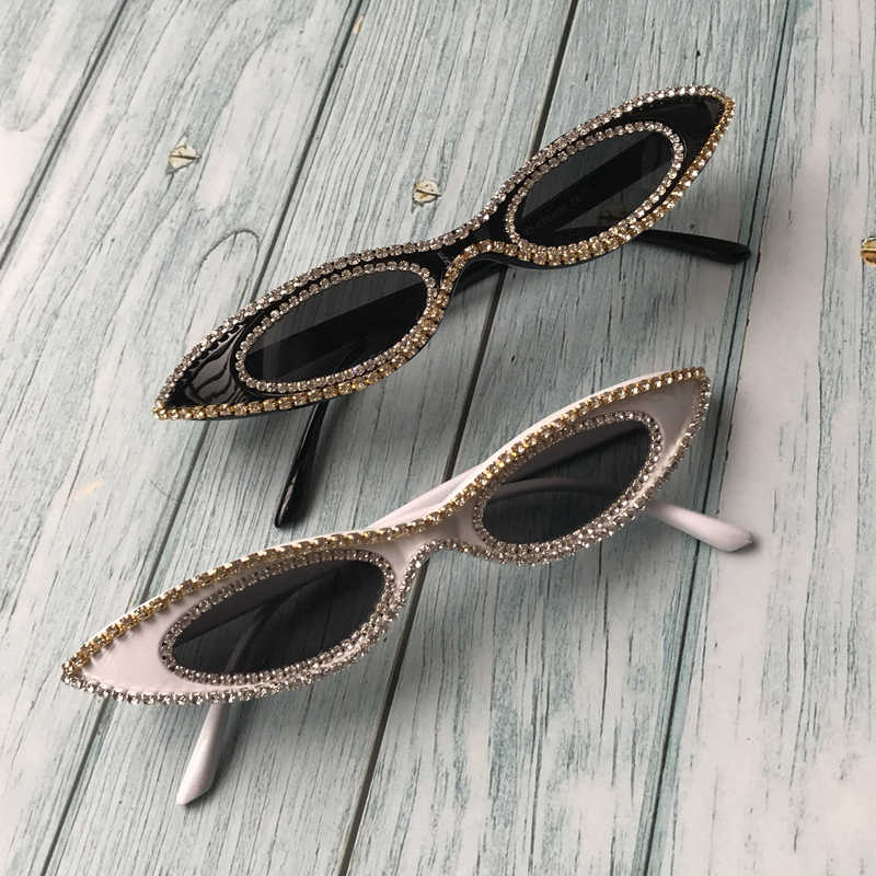 ZAOLIHU Sexy Samll Cat Eye Women Sunglasses 2019 Diamond Luxury Sun Glasses UV400 Party Eyewear Hot Sale Handmade  oculos de sol