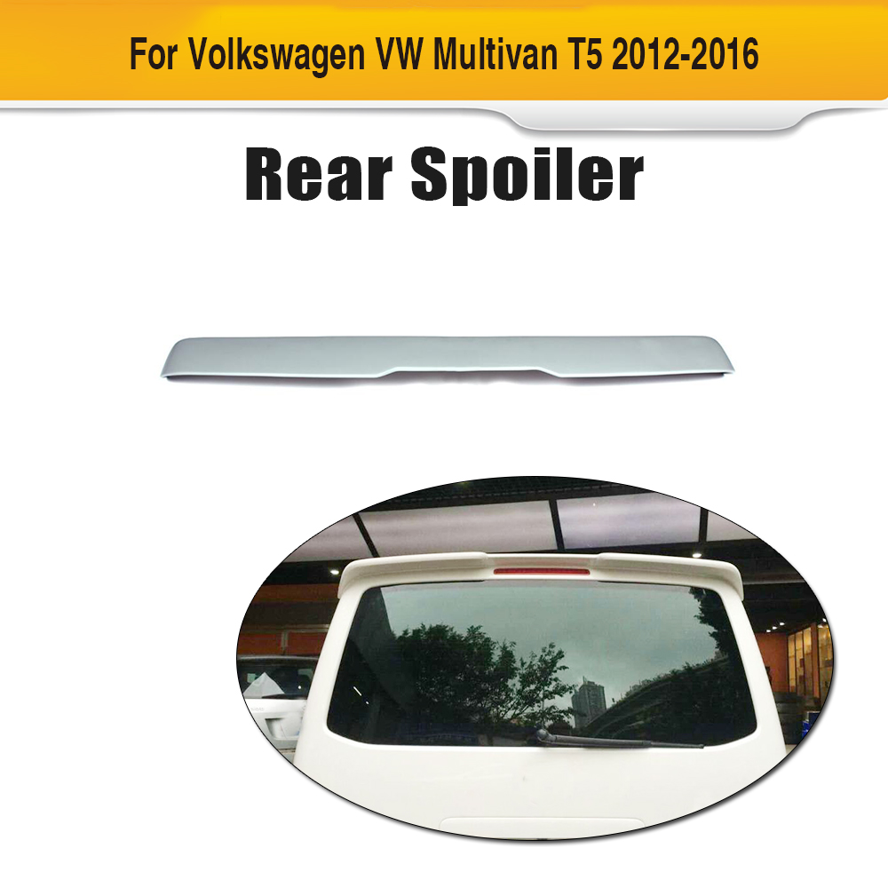 FRP unpainted car roof boot lip spoiler wings fit for Volkswagen VW Multivan T5 2012-2016 car accessories frp fiber glass origin lab style roof spoiler fit for 1992 1997 rx7 fd3s rear roof wing