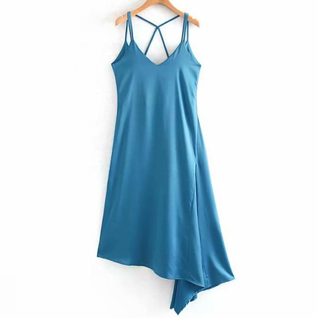 Summer Women'S Dress Solid...