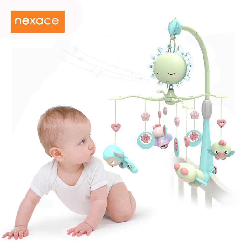 Baby Toys For Bed Crib Rattles Musical Bed Bell Mobil For Crib Toys For Newborns baby bed bell toy musical crib mobile rotating rattles baby hanging toys 0 12 months