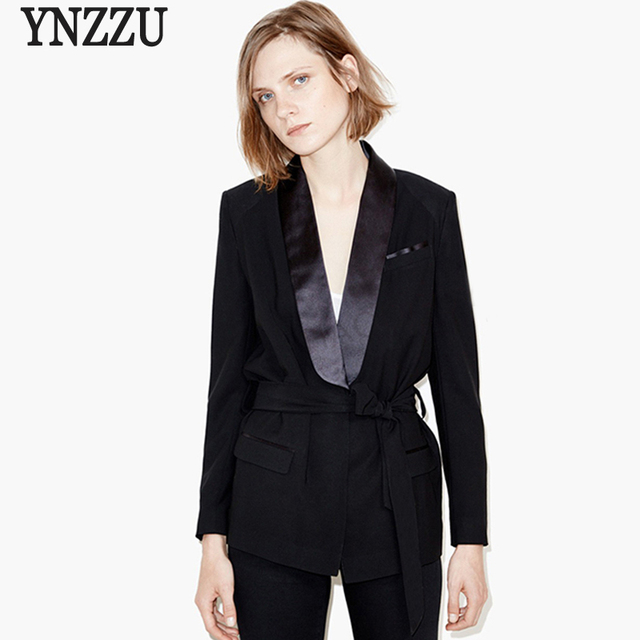 2017 New spring elegant blazer femme Autumn cool slim black ladies blazer Women coat jacket casual OL outwear
