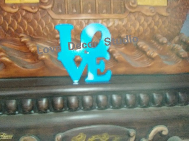 sky blue Script Love Sign Wood Sign Art, Love Sign, Wood Wedding ...