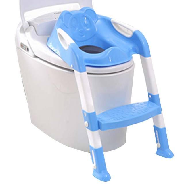 Orinal Bebé Asiento Portátil extraíble Gruesa Antideslizante Escalera de Los Niños Tapa Del Inodoro Plegable Infantil Bacinica Aseo