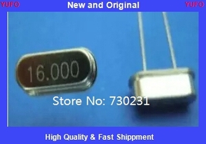 Free Shipping One Lot 10 pcs 16.000 MHz 16 MHz Crystal HC-49/S Low Profile 16mhz