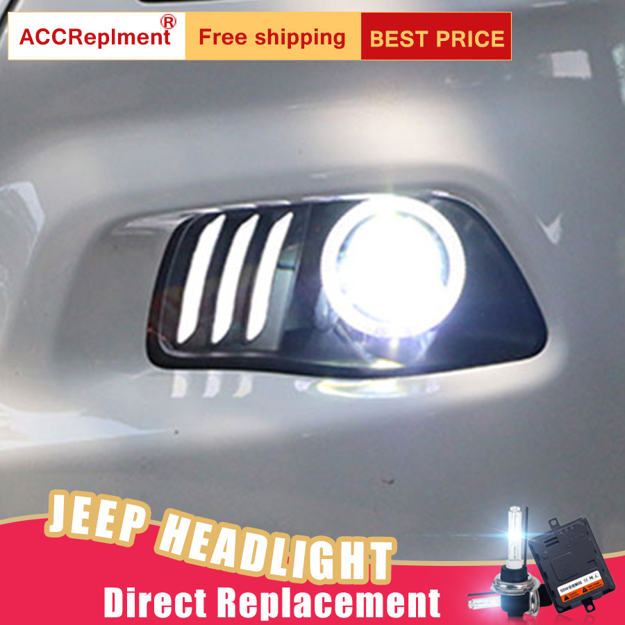2Pcs LED Headlights For JEEP Cherokee 2014-2017 led car lights Angel eyes xenon HID KIT Fog lights LED Daytime Running Lights leewa 7 android 6 0 64bit ddr3 2g 32g 4g lte octa core car dvd gps radio head unit for ford transit connect tourneo connect