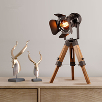 desk lamp Creative Industries style table lamps Living room decorative lights tripod Iron craft Lift up and down table lamp