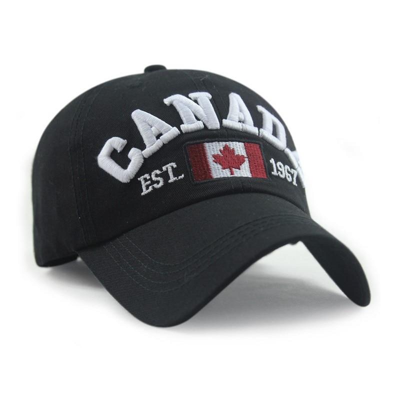 9f102633646c5 Canada lettre casquette de baseball drapeau Canadien printemps chapeau  favori Des Canadiens chapeau d'été coton casquettes 6 couleur 1 pièces dans  ...
