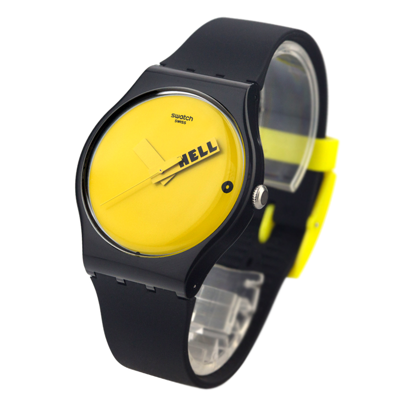 Swatch Watch Original Colorful Series HELLO Hands Quartz Watch SUOB120 swatch original colorful quartz watch suob135