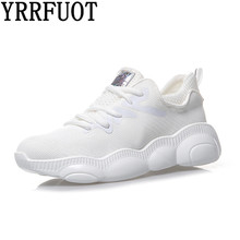YRRFUOT Women Fashion Casule Shoes Lace-up Breathable Comfortable Sneakers Zapatillas Hombre Moda Mujer Sneakers Fashion Shoes