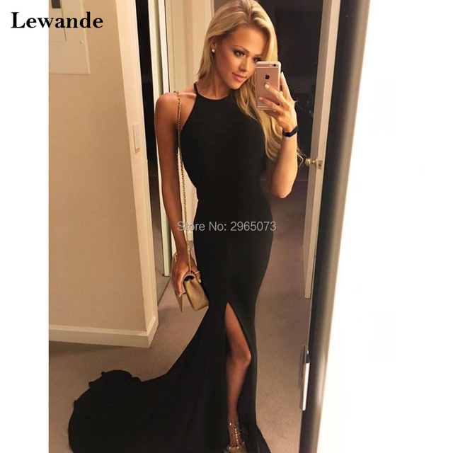Halter Jersey Prom Dress