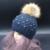 Mezcla de Piel de conejo Sombrero de piel de Mapache Verdadero Invierno Pompón Gorros Sombreros Para Las Mujeres Perla de la Tela Escocesa 2016 FURANDOWN