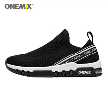 купить ONEMIX sports shoes men running sneakers breathable mesh outdoor jogging sock-shoes soft cushion sneakers for walking по цене 3516.43 рублей
