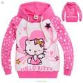 2015 new Spring Hello Kitty girls clothes long sleeve children Hoodies & Sweatshirts hoodies sweatshirts Cotton