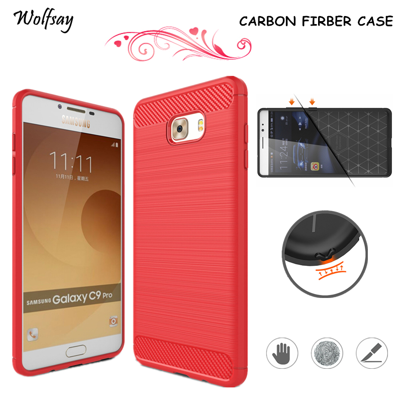 Wolfsay For Phone Cover Samsung Galaxy C9 Pro Case Silicone Phone Case For Samsung Galaxy C9 Pro Phone Cover For Samsung C9 Pro