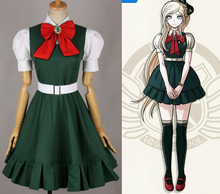 ¡Anime! Dangan Ronpa Sonia Nevermind Lolita vestido encantador verde uniforme  escolar Cosplay traje envío gratis 87d1c6743b6f