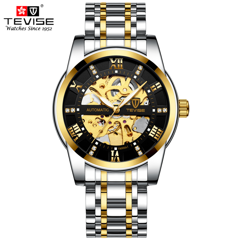 TEVISE Mens Top Brand Luxury Self Wind Wristwatch Man Mechanical Watches Automatic Watch Fashion Male Clock Relogio Masculino tevise mens watches top brand luxury men watch sports calendar clock automatic mechanical wristwatch hours relogio masculino