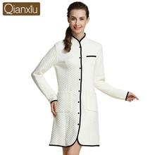 Pajamas Winter Soft Thicken Bathrobe Women Long Robe Plus Size Sleepwear long sleeve Coral fleece Bathrobes Female 15611