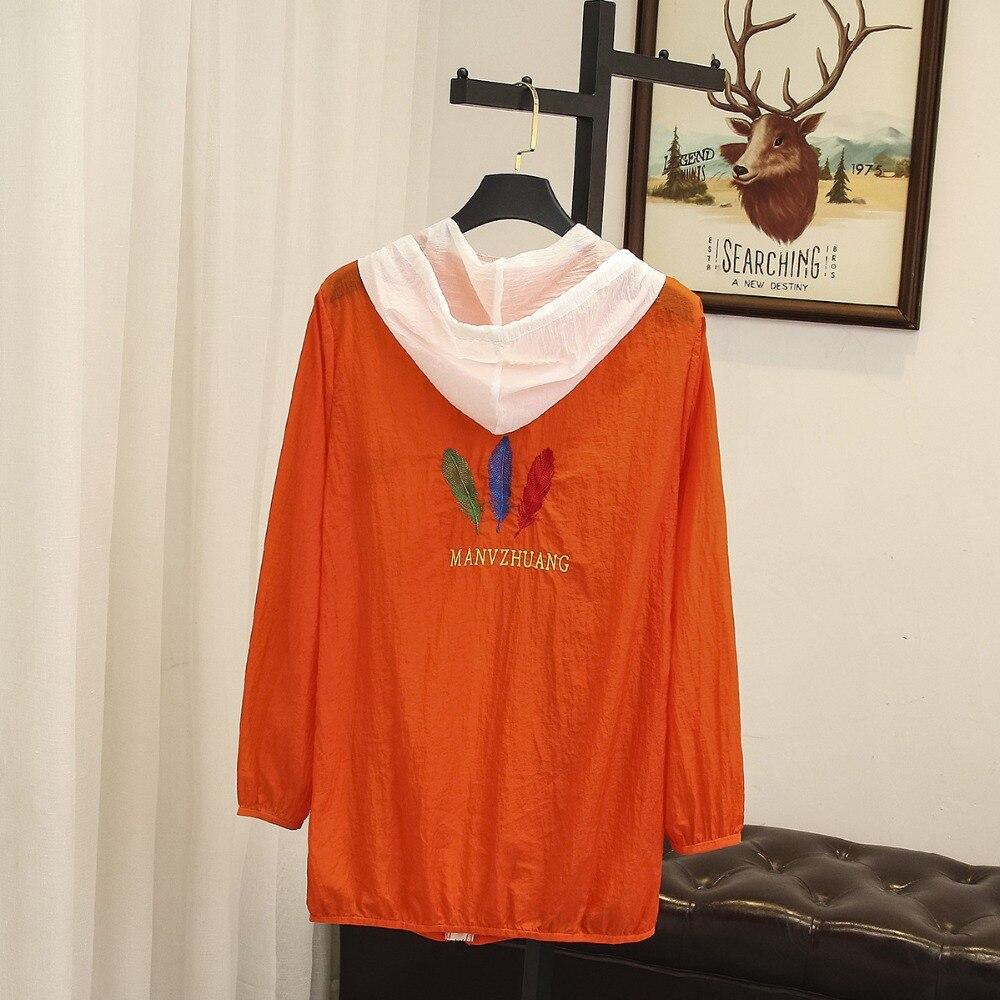 10f358f487 De Larga Ubetoku Bordado Camisa Blusa 2018 blanco Verano Mujeres Con Cielo  coral Tops Mujer Capucha Tamaño ...