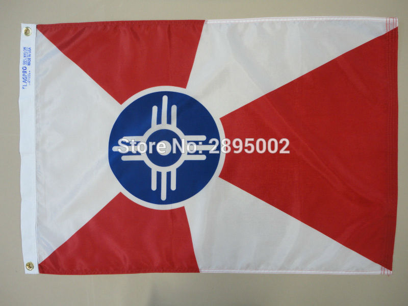 Wichita Kansas KS City Indoor Outdoor Printed Nylon Flag