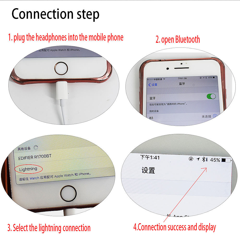 Wired Bluetooth Headset For Apple Earpods Lightning Connector In Iphone Headphone Jack Wiring Diagram View Ear Earphones Microphone Se 5s 6 7 8 X