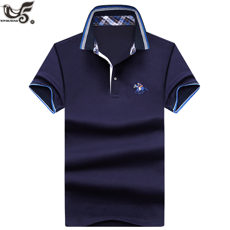 Brand Men's   Polo   Shirt slim fitness for Men Short Sleeve jerseys shirts Summer 3d Embroidery Mens   polos   para hombre