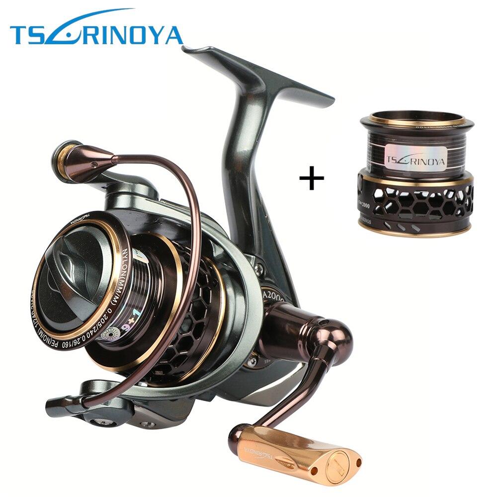 Tsurinoya Jaguar moulinet de pêche 1000 2000 3000 Double bobine de métal roue de carpe équipement de pêche 10BB 5.2: 1
