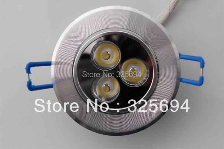 3 Вт Dimmable Светодиодные светильники встраиваемые AC85-265V белый/теплый белый светодиодные лампы Алюминий теплоотвод 15 шт./лот Бесплатная достав...