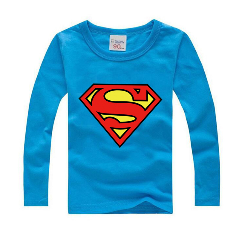 2018 Autumn Boys T Shirt Brand Children T Shirts Boys Clothing Toddler Girls Tops Long Sleeves Hero Superman Cartoon Kids Shirts red pile collar long sleeves casual t shirts