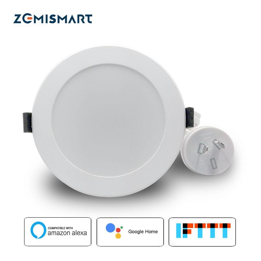 Zemismart AU Type 3.5 pouces WiFi RGB led Downlight 10 w contrôle vocal par Alexa Echo Google Assistant À La Maison Domotique IFTTT