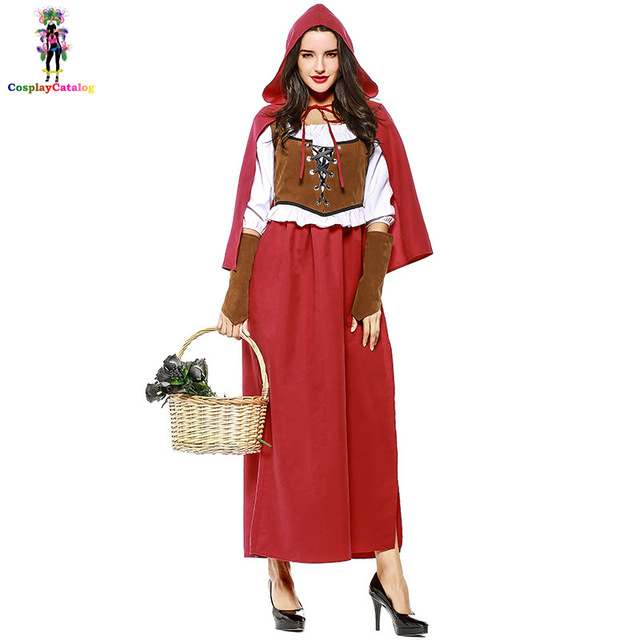 Halloween Adult Women Little Red Riding Hood Costume Plus Size XL XXL European/American Renaissance  sc 1 st  AliExpress.com & Halloween Adult Women Little Red Riding Hood Costume Plus Size XL ...