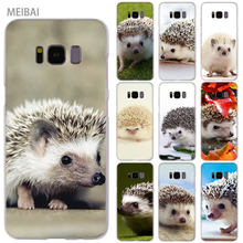 MEIBAI cute Hedgehog Transparent hard Case for Samsung Galaxy S8 case S7 S6 Edge S9 S8 Plus s6 edge plus Galaxy Note 9 cover(China)