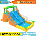 Dual slide inflatable water slide bounce house combo climbing water park with cannons