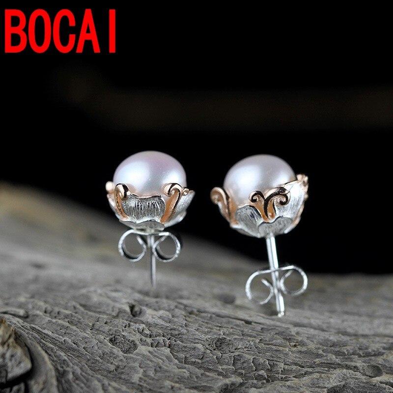 Sterling Silver Jewelery Handmade Ladies Pearl Earrings